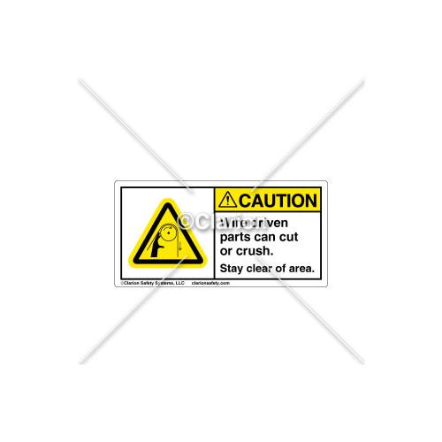 Caution/Wire Driven Parts Label (314606)