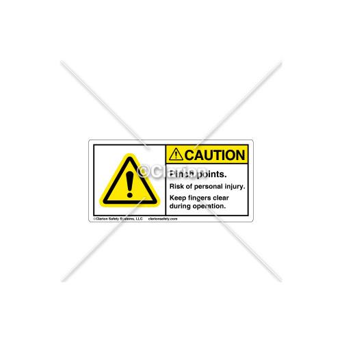 Caution/Pinch Points Label (314607)
