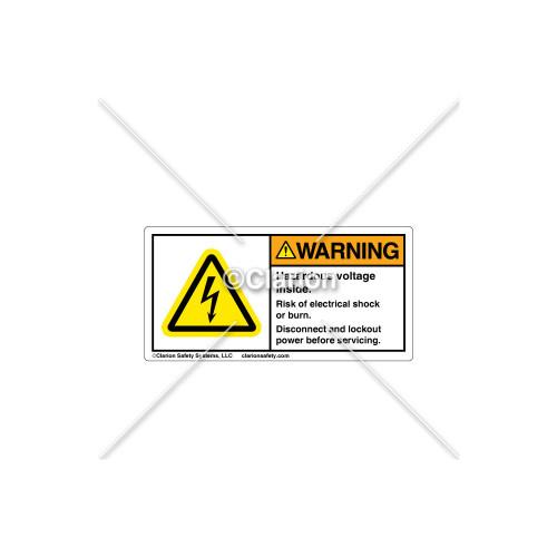 Warning/Hazardous Voltage Inside Label (314505)