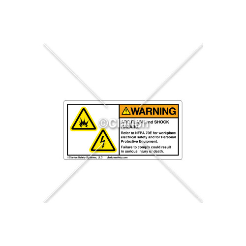 Warning/Arc Flash and Shock Label (314530)