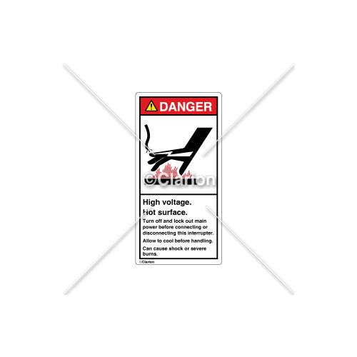 Danger/High Voltage Label (1238-157DVPK)