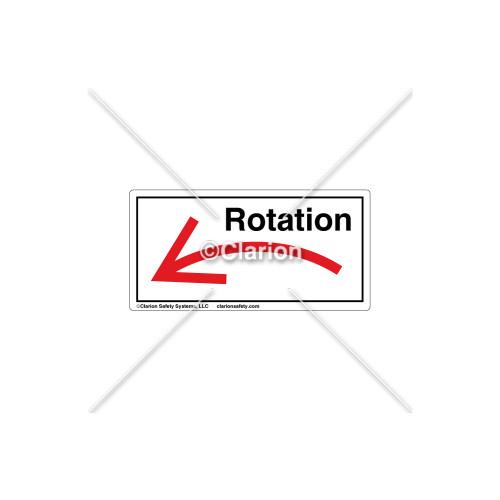 Curved Arrow/Left Rotation Label (7804A-04HPK)