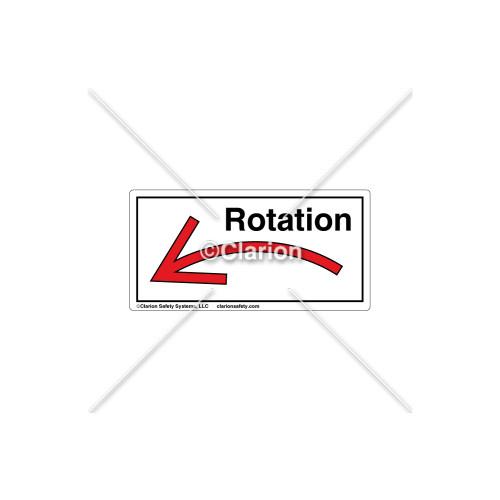 Curved Arrow/Left Rotation Label (7804A-04HBK)