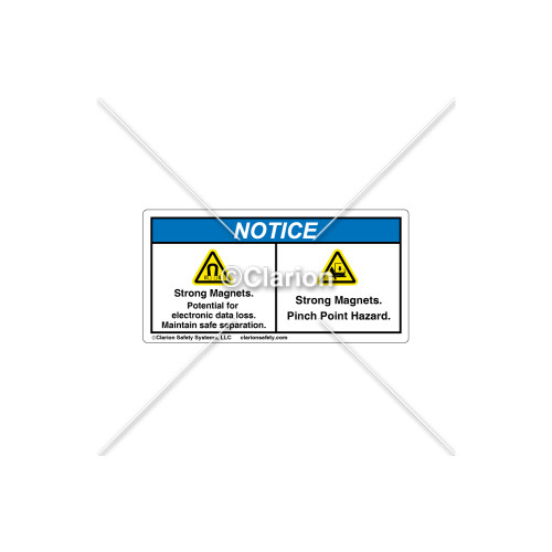 Notice/Strong Magnets Label (72-253198-05)