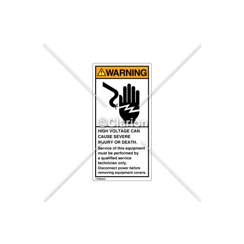 Warning/High Voltage Label (1023-8KWVPK)