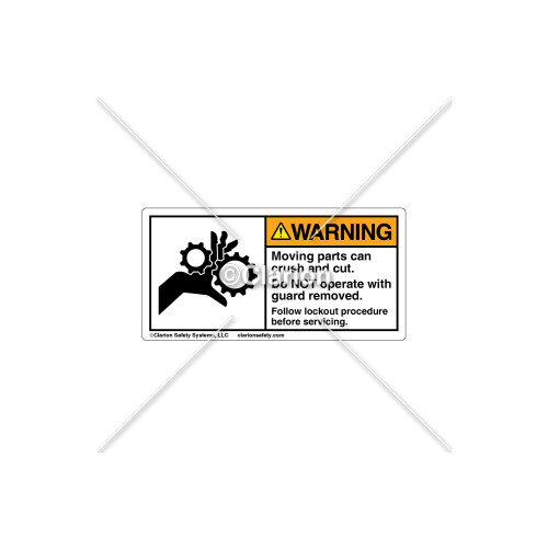 Warning/Moving Parts Can Crush Label (1014-02WHPK Wht)