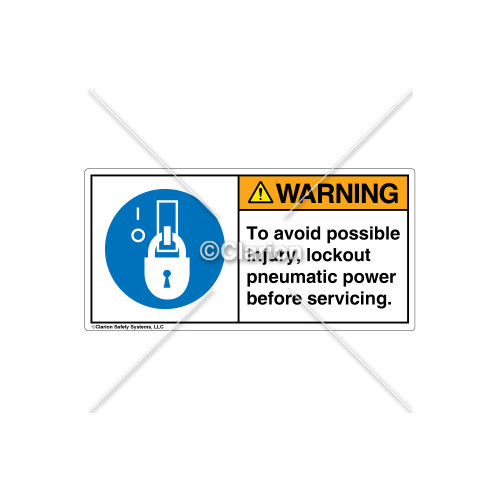 Warning/To Avoid Possible Injury Label (H6143-5CWHPK)