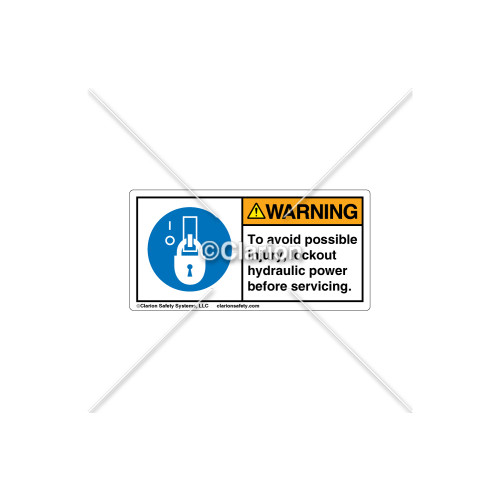 Warning/To Avoid Label (H6143-5DWHPK)