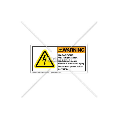 Warning/Hazardous Voltage Label (H6010-G94WHPK)