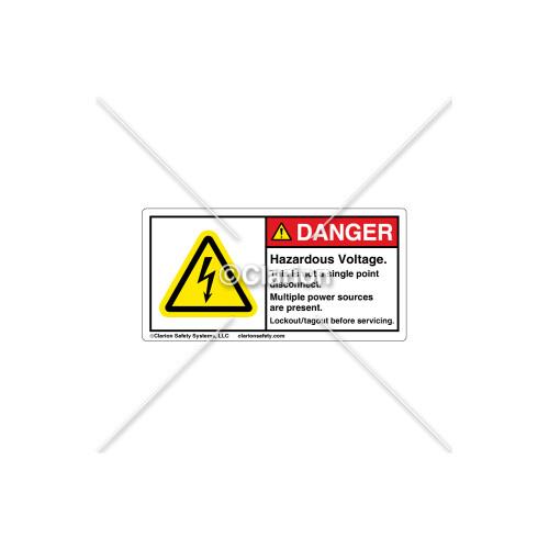 Danger/Hazardous Voltage Label (H6010-H18DHPK)