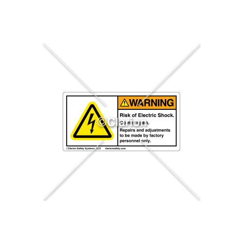 Warning/Risk Of Electric Shock Label (H6010-U36WHPK)