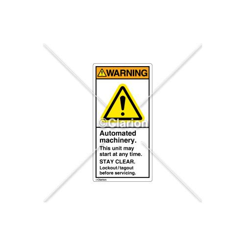 Warning/Automated Machinery Label (H6014-GCWVPK)