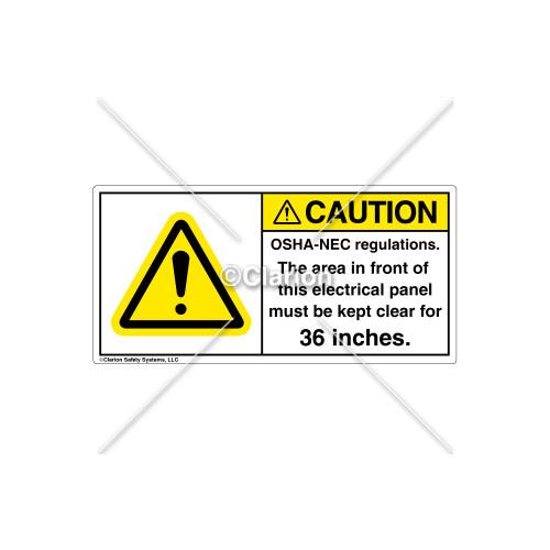 Caution/OSHA-NEC Regulations Label (H6014-KZCHPK)
