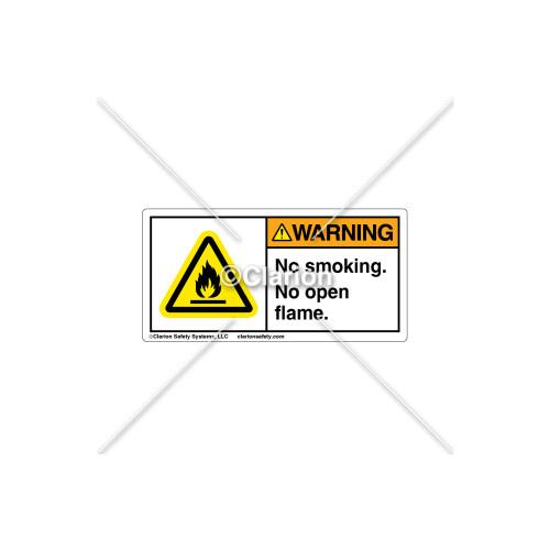 Warning/No Smoking/No flame/Flammable MaterialLabel (H6020-P28WHBK)