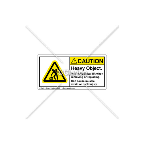 Caution/Heavy Object Label (H5158-J54CHPK)