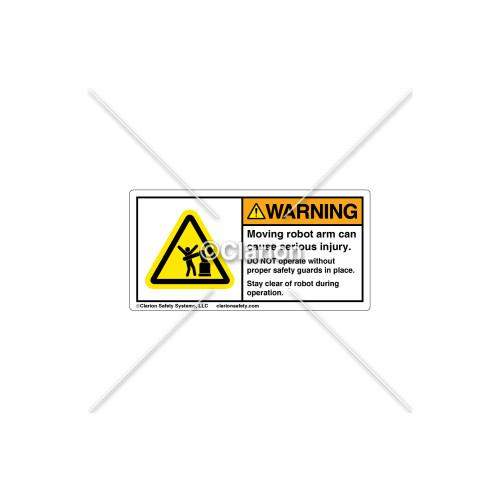 Warning/Moving Robot Arm Label (H5166-V83WHPK)