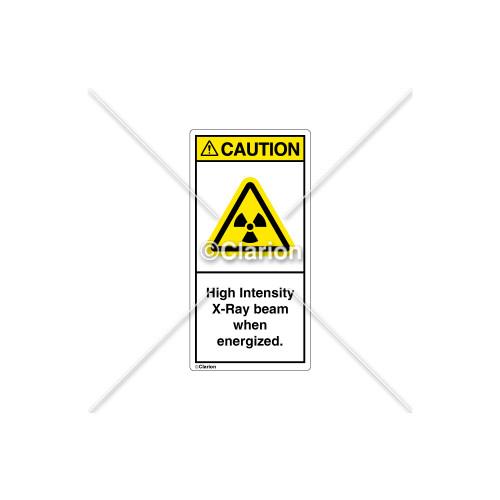 Caution/High Intensity X-Ray Label (H6005-J19CVPK)