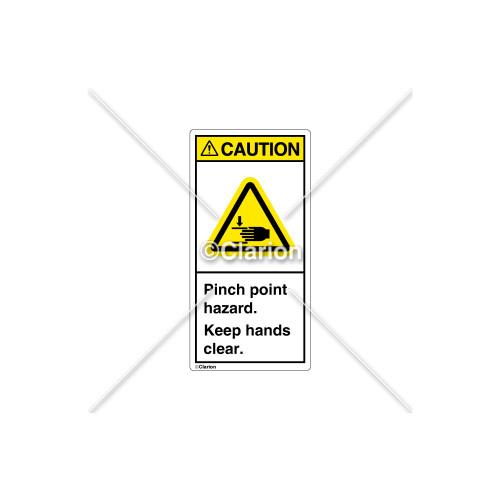 Caution/Pinch Point Label (H1105-G3CVPK)