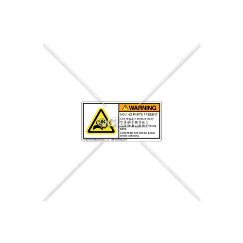 Warning/Moving Parts Label (H1014-430WHPL)