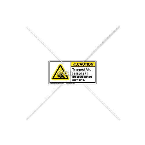 Caution/Trapped Air Label (H4005-J27CHPL)