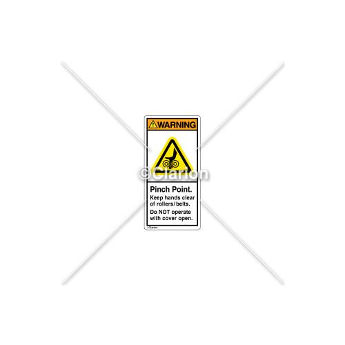 Warning/Pinch Point Label (H1131-2AWVPL)