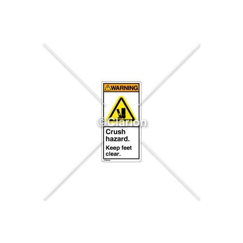 Warning/Crush Hazard Label (H2001-CXWVPL)