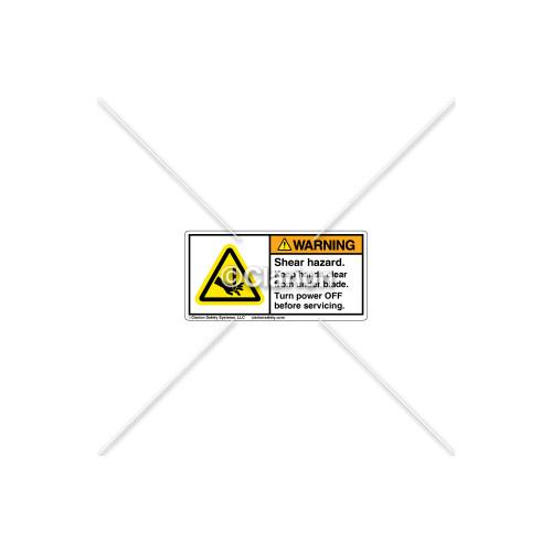 Warning/Shear Hazard Label (H1001-M2WHPL)
