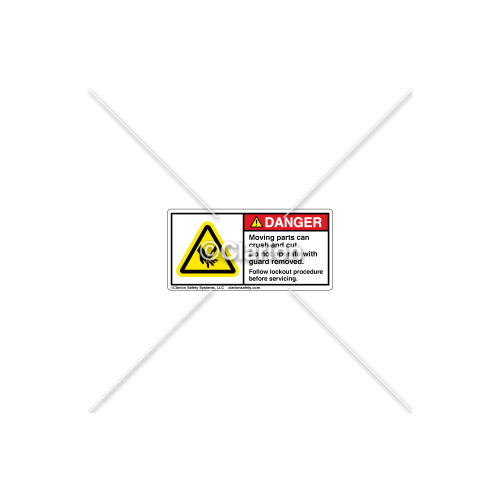 Danger/Moving Parts Label (H1000-02DHPL)