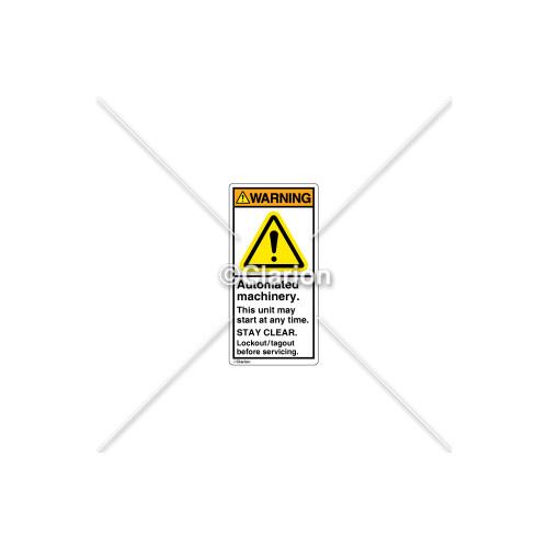Warning/Automated Machinery Label (H6014-GCWVPL)