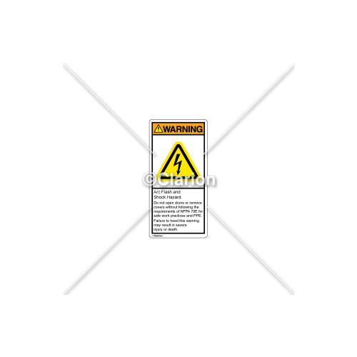 Warning/Arc Flash And Shock Label (H6010-T73WVBL)