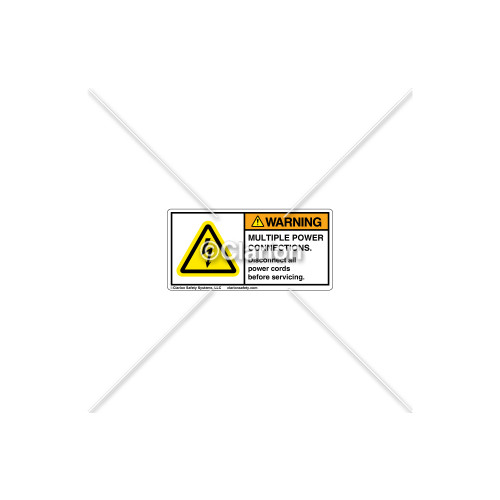 Warning/Multiple Power Label (H6010-V77WHPL)