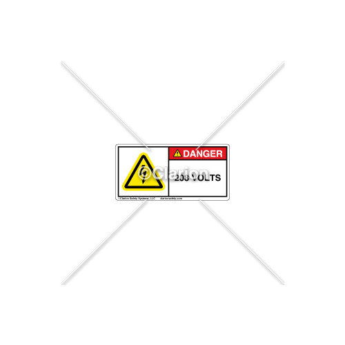 Danger/208 Volts Label (H6010-5GDHPL)
