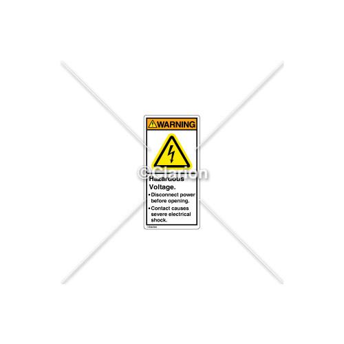 Warning/Hazardous Voltage Label (H6010-208WVPL)