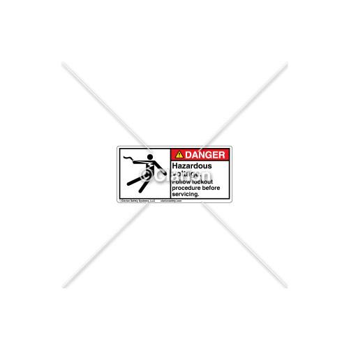 Danger/Hazardous Voltage Label (5025-19DHPL Wht)