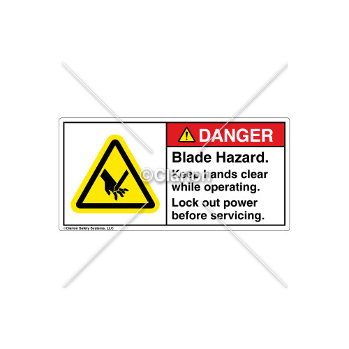 Danger/Blade Hazard Label (H1000-193DHPL)