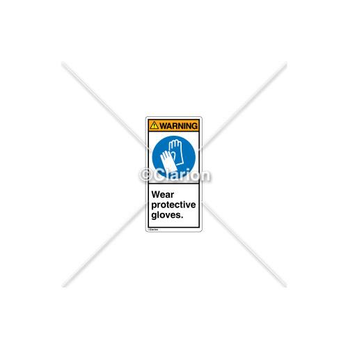Warning/Wear Safety Gloves Label (H6033-HGWVPL)