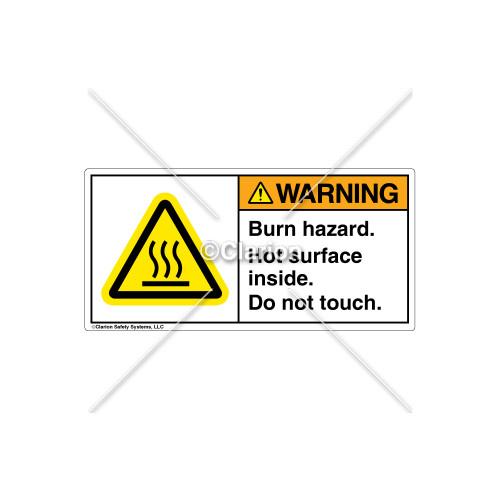 Warning/Burn Hazard Label (H6043-BPWHPL)