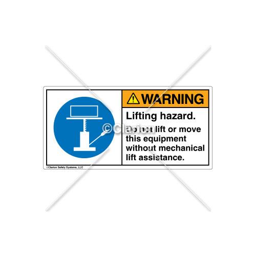 Warning/Lifting Hazard Label (H6148-VVWHPL)