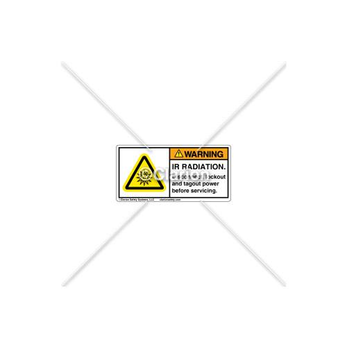Warning/IR Radiation Label (H6122-VSWHPL)
