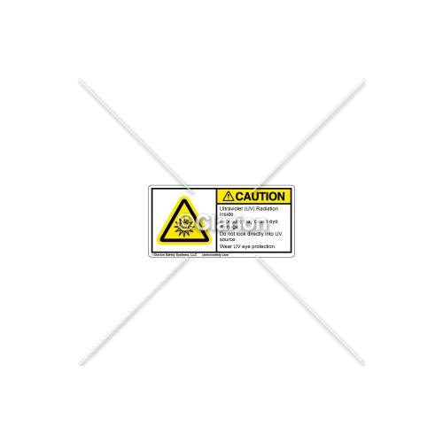 Caution/Ultraviolet Radiation Label (H6123-X31CHPL)