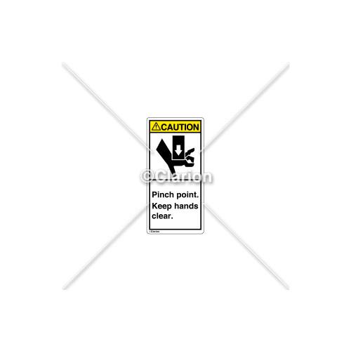 Caution/Pinch Point Label (1017-HBCVPL)