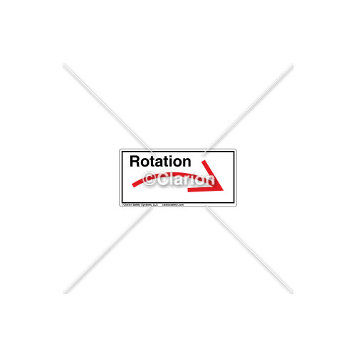 Curved Arrow/Right Rotation Label (7804A-03HPL)