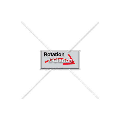Curved Arrow/Right Rotation Label (7804A-03HTL)