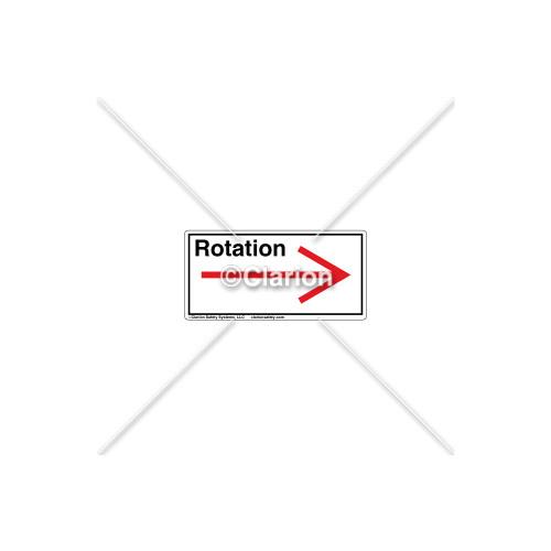 Straight Arrow/Right Rotation Label (7804-03HPL)