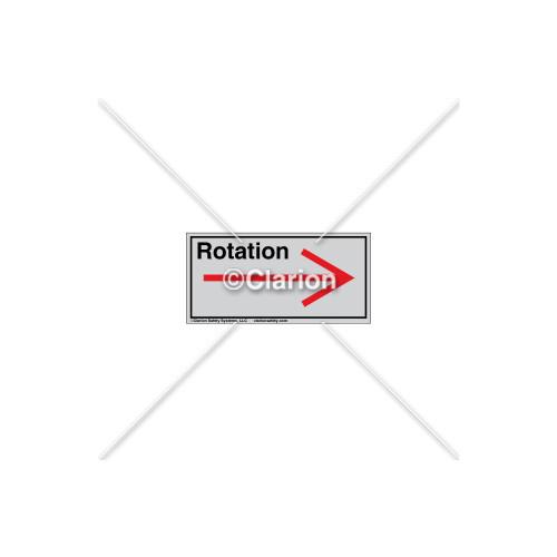 Straight Arrow/Right Rotation Label (7804-03HTL)