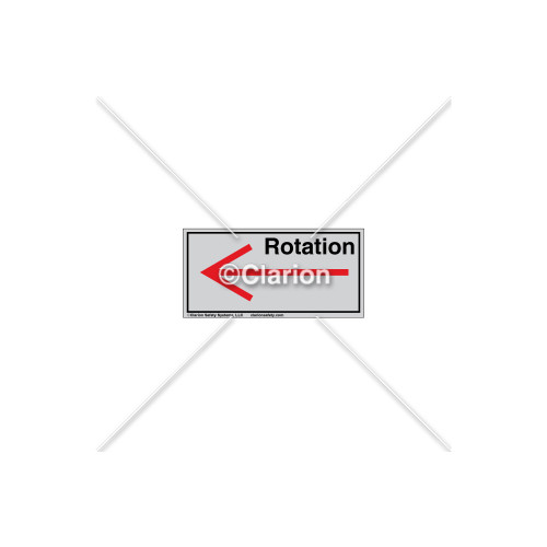 Straight Arrow/Left Rotation Label (7804-04HTL)