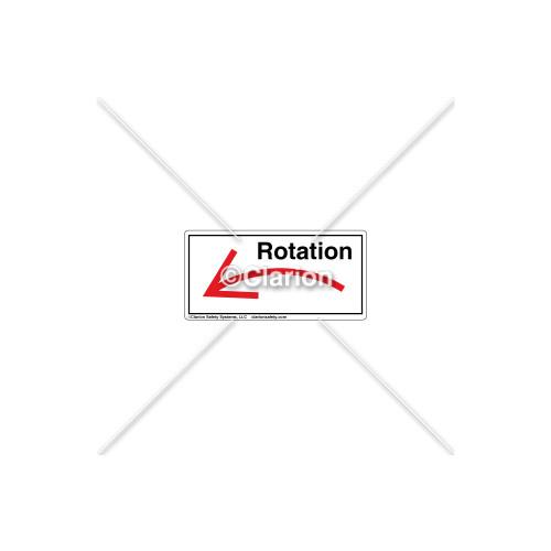 Curved Arrow/Left Rotation Label (7804A-04HPL)
