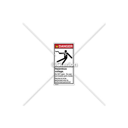 Danger/Hazardous Voltage Label (5025-GBDVPL Wht)