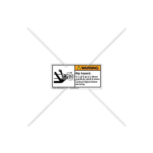 Warning/Nip Hazard Label (5087-7XWHPL)
