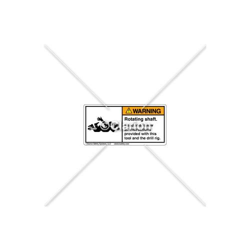 Warning/Rotating Shaft Label (5131-W35WHPL)